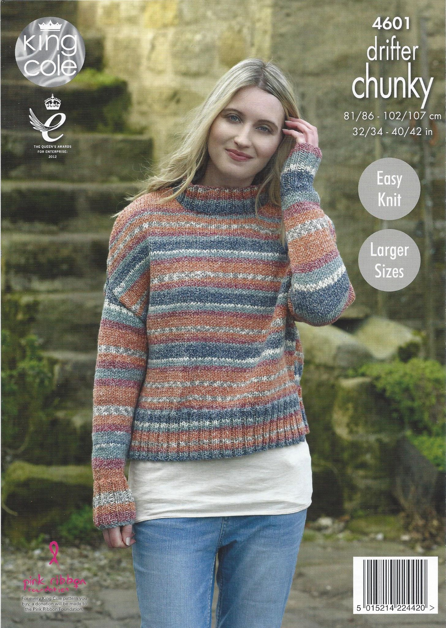 king cole drifter chunky 4601 ladies sweaters knitting